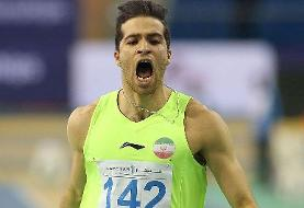 تفتیان، سریعترین مرد ایران قهرمان رقابتهای داخل سالن فرانسه شد