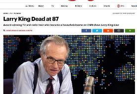 لری کینگ (مجری و خبرنگار مشهور آمریکایی) بر اثر ابتلا به کرونا درگذشت