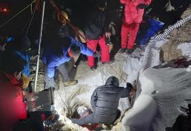 جسد یکی از افراد گرفتار در غار سمی بابا احمد چالدران پیدا شد
