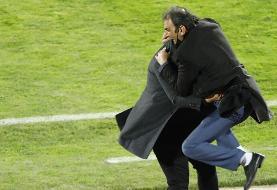 خوشحالی جالب سرپرست سایپا پس از پیروزی مقابل استقلال/عکس