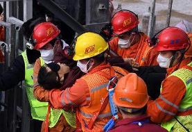 نجات ۱۱ کارگر چینی گرفتار در معدن طلا