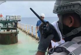 (ویدئو) توقیف نفتکش ایرانی در اندونزی