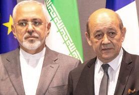 ظریف اظهارات وزیر خارجه فرانسه را که ایران با سلاح هستهای فاصله چندانی ندارد بیمعنی خواند