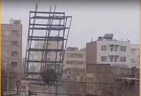 حکایت فروریزش اسکلت فلزی سازه نیمهکاره و ربط آن به زلزله تهران