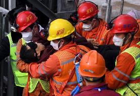 نجات یافتن ۱۱ معدنچی چینی پس از دو هفته اسارت در عمق زمین