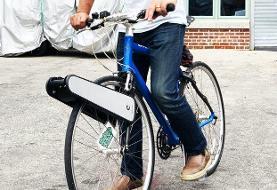 اختراع یک دستگاه برای تبدیل دوچرخه معمولی به دوچرخه برقی