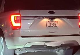 خودروی پلاک سپاه در کالیفرنیا (عکس)
