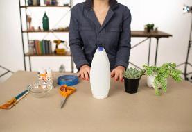 چگونه از بطری پلاستیکی گلدان بسازیم؟