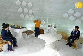 (تصاویر) کافه ایگلو به سبک کلبه اسکیموها