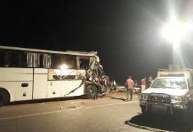 تصادف اتوبوس و تریلی در محور آرادان_سرخه/ ۲نفر کشته شدند