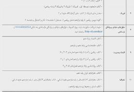 منابع آزمون المپیادهای علمی در سال تحصیلی۱۴۰۰-۱۳۹۹