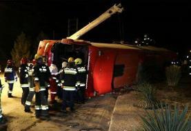 تکذیب مرگ دو نفر در تصادف شب گذشته اتوبوس با کامیون حامل مازوت