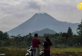 (ویدئو) فوران آتشفشان مراپی در اندونزی