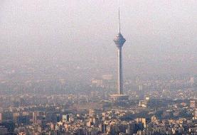 هوای تهران در وضعیت ناسالم برای گروههای حساس قرار دارد