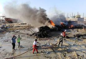 آتش سوزی نماد لنج میدان دفاع مقدس بندرعباس/ شهرداری: عمدی بود