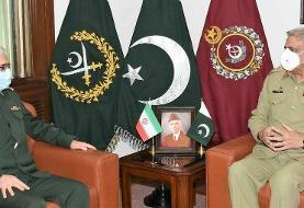 رئیس ستاد کل نیروهای مسلح ایران با فرماندۀ ارتش پاکستان دیدار کرد