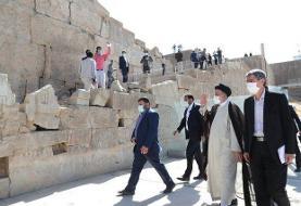 ابراهیم رئیسی و روسای جمهوری که به تخت جمشید رفتند