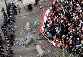 تجمع اعتراض آمیز مردم لبنان به خشونت کشیده شد / ۲ کشته و ۸ زخمی