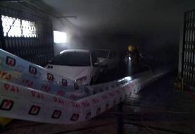 آتش سوزی یک بیمارستان در خیابان ولیعصر تهران