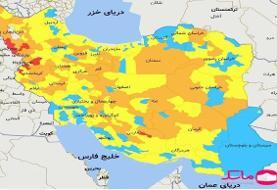 تازهترین رنگبندی کرونایی کشور / ایران آبیتر شد