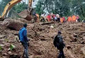 ۲۲ کشته بر اثر رانش زمین در هند