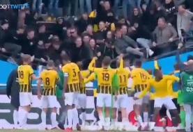 شوک به فوتبال هلند با فروریختن جایگاه تماشاگران/عکس