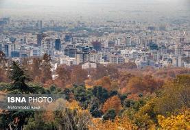 کاهش دمای تهران تا ۱۰ درجه