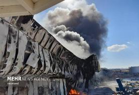 ادامه آتش سوزیهای زنجیره ای یا عمدی: تصویر آتشسوزی گسترده در شهرک صنعتی مامونیه با ۵ هزار میلیارد تومان خسارت