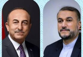 رایزنی وزرای خارجه ایران و ترکیه در مورد تحولات افغانستان