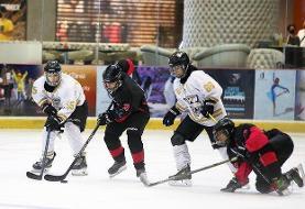 نایب قهرمانی تیم ملی زنان هاکی روی یخ در رقابتهای بینالمللی امارات