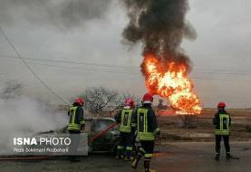انفجار لوله گاز در جاده رامشیر ـ اهواز/ تلفات جانی رخ نداده
