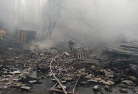 افزایش تلفات حریقِ کارخانه مواد شیمیایی در روسیه