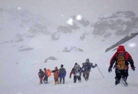 نجات ۸ کوهنورد مفقود شده در ارتفاعات دشت لار