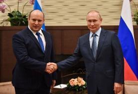 نخستوزیر اسرائیل در روسیه با ولادیمیر پوتین دیدار کرد