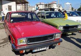 سومین همایش خودروهای کلاسیک در فومن برگزار شد