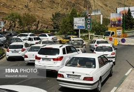 مسدود شدن آزادراه تهران-شمال و ترافیک سنگینتر در جاده چالوس