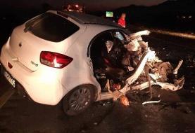 تصادف زنجیرهای ۳۰ دستگاه خودرو در اتوبان کرج - قزوین +فیلم