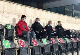اسکوچیچ تماشاگر بازی پرسپولیس و نساجی در ورزشگاه آزادی/عکس