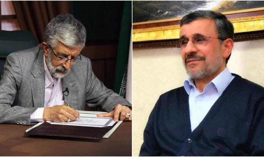 پاسخ تند حدادعادل به اتهام دستبوسی فرح توسط احمدی نژاد