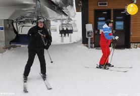 (ویدئو) پوتین مهارت خود را در اسکی نشان داد