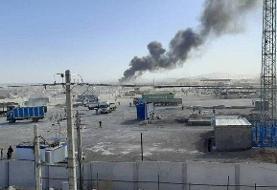 مهار آتشسوزی در پایانه مرزی ماهیرود | علت حادثه در دست بررسی است