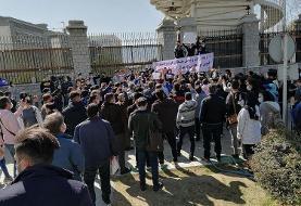 (ویدیو) تجمع خشونتبار هواداران استقلال در برابر مجلس