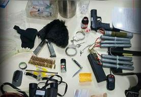 اولین تصویر از تجهیزات تروریست خرابکار در عوارضی تهران - قم | تروریست بازداشتی اهل کجاست؟