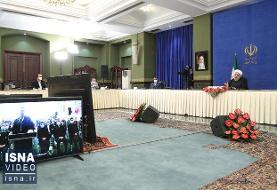 ویدئو / افتتاح ویدئوکنفرانسی آزادراه غدیر توسط رئیسجمهور