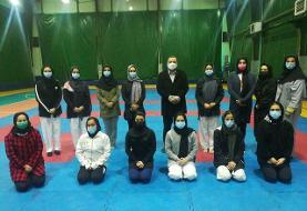 حضور رییس فدراسیون کاراته در تمرین تیم های ملی بانوان