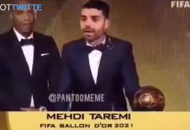 ببینید | مهدی طارمی برنده توپ طلا شد