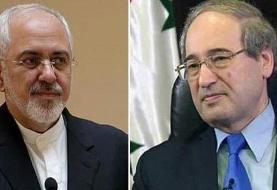 گفت وگوی وزیران خارجه ایران و سوریه