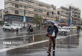 احتمال بارندگی در تهران