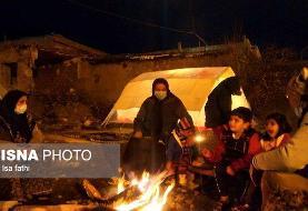 خانههای زلزله زدهای که از درون متلاشی شده اند