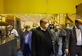 بازدید مدیران ارشد بانك ملی ایران از یك طرح صنعتی
